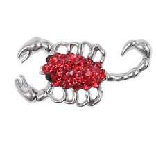 Beauty Rhinestone Red Scorpion Charm Chunk Snap Button for Noosa Bracelets