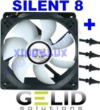 VENTOLA per CASE COMPUTER PC 80mm GELID SILENT 8 FAN 80 x 25 +GOMMINI 3 PIN 12V