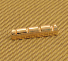 BN-3GOLD (1) Brass Polished Gold 4-String Top Bass Nut