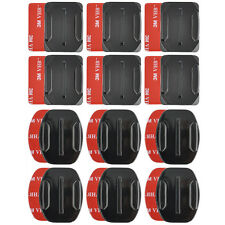 12Pc Helmet Accessories Flat Curved Adhesive Mount For Gopro Hero 1/2/3 /3+/4
