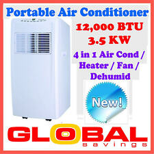 REVERSE CYCLE 12000 BTU 3.5KW PORTABLE AIR CONDITIONER HUMIDIFIER HEATING FAN