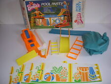 BARBIE'S POOL PARTY, MATTEL, #7795, WITH ORIGINAL BOX, 1973!