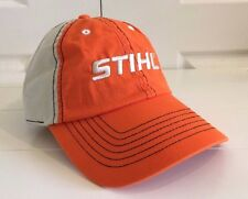 Stihl Outfitters Orange and Beige Fabric Hat Cap w Black Contrast Stitching