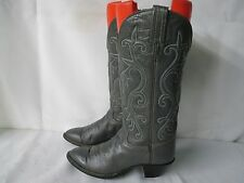HONDO Gray Leather Tall Cowboy Western Boots Size 6 B Style 8729L