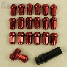 NEW RED Heptagon STEEL JDM LUG NUTS Tuner 12x1.5 For HONDA EG EK DC2