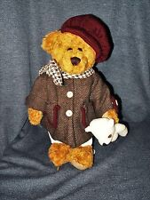 Retired Seymour Mann Jointed Plush Female Bear With Hat, Coat and Teddy Bear EUC