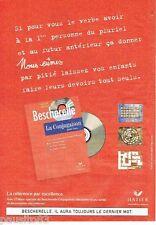 PUBLICITE ADVERTISING 116  2000  Editions Hatier   le Bescherelle conjugaison