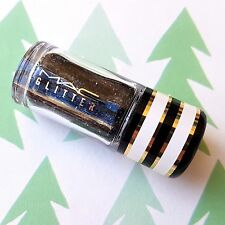 MAC Small Glitter Brilliants Loose Pigment Pot *BLACK* Rare 3.1g