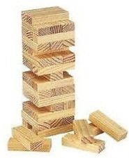 LARGE WOODEN TUMBLING STACKING TOWER KIDS FAMILY GAME JENGA STYLE 54 PIECE TY366