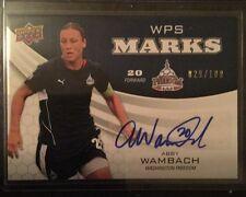 2010 Upper Deck Soccer WPS Marks Abby Wambach Autograph 029/100