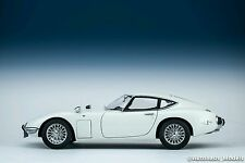 AUTOart 1/18 Toyota 2000GT wire spoke wheel version (White) model Diecast