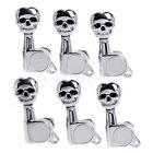 Guitar String Skull Sealed Gear Tuning Pegs Machine Heads For Electric 6R Chrome