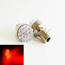 1156 Red 19 LED 2x High Power Bulb #J4 P21W BA15s 7506 Rear Turn Signal Light