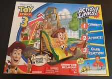 TOY STORY 3 Action Links DISNEY Sunnyside Breakout NEW Stunt Set FREE SHIPPING