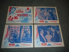TASK FORCE - SET OF 8 ORIGINAL LOBBY CARDS - 1956 RE-ISSUE - GARY COOPER