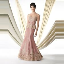 New Mother of the Bride Lace Dresses Elegant Appliques Long Prom Evening Gown