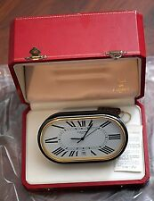Vintage Cartier Paris Desk Alarm Accordion Clock & Red Box & Paper- Non Working