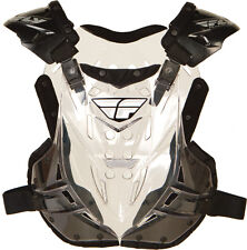 NEW CLEAR Fly Racing ADULT Chest Roost Protector Stingray Guard  MX ATV