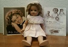 Antique Vintage Shirley Temple w/ Vogue Clothing Composition Baby Doll Rare Toy