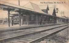 1913 Rail Road Station Mt. Kisco NY post card Westchester county