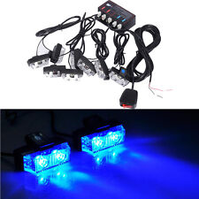 16 LED Strobe Flash Lights Dash Car Truck Emergency Flashing Warning Light Blue