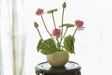 REAL TOUCH Mini Lotus x 4 - artificial flowers - Pink, Light Pink, Red, White
