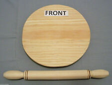 Round Wooden Dough Rolling Pin & Pastry Board Madera Tortilla Pizza Flat Bread