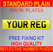 HIGH QUALITY NUMBER PLATES SHOW PLATES PLAIN REAR YELLOW CAR VAN TOWING