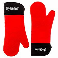 RedLantana Silicone Oven Mitts - Set of 2 - Best Protection with Extra Long T...
