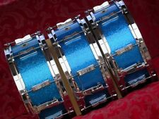 "1965 LUDWIG 14"" JAZZ FESTIVAL BLUE SPARKLE SNARE DRUM"