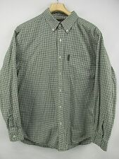 Abercrombie & Fitch Green Cotton Plaid Button Front Long Sleeve Shirt Men's M N5