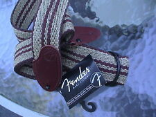 FENDER VINTAGE 2D BROWN WEAVE LEATHER ENDS GUITAR STRAP - 099-0687-001