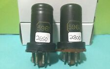 """RARE Date Matched Pair National 5961  """"6SA7""""  Vacuum Tubes Tested Good On Hickok"""