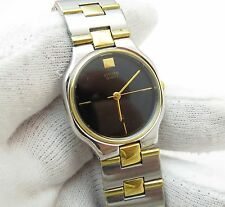 "CITIZEN 80's,Midsize ""Two-Tone Black Dial"" SS/GP Band,MENS/UNISEX WATCH 83,L@@K!"
