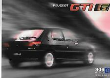 PEUGEOT 306 GTi-6 CAR SALES BROCHURE AUGUST 1996 FOR 1997