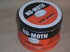 Vintage Reefer-Galler Product NO-MOTH Solid Tin Can Out Door Garden Decor L@@k