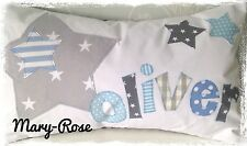 Personalised Boys Cushion Handmade New Baby, Birthday Gift. STARS