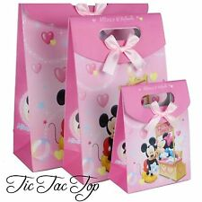 6 X Small Mickey Minnie Mouse Card Paper LOOT LOLLY GIFT BAGS Party