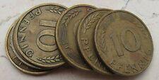 Lotto assortito 10 Pfennig Tedeschi - 6 pezzi vari anni - n 1046