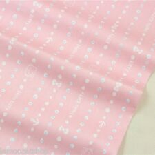Hello Kitty Pink Cotton Fabric zakka cartoon Cat DIY sewing cloth quilting craft