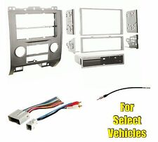Silver Car Stereo Radio Install Dash Mount Kit Combo for select Maz/Ford/Merc