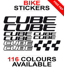 Cube decals stickers sheet (cycling, mtb, bmx, road, bike) die-cut logo