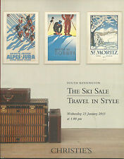 CHRISTIE'S SKI SALE TRAVEL POSTERS Swiss Chamonix Davos VUITTON Luggage Catalog
