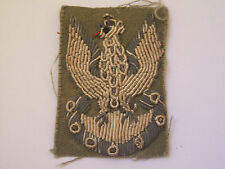 2ww vintage polish eagle  in silver wire italian made beret patch