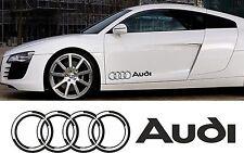 Audi Door Wing Decals Vinyl Stickers Quattro 3D Effect RS 3 4 5 6 7 8