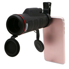 35X50 HD High Power Universal Clip Mini Monocular Telescope Lens For Smart Phone
