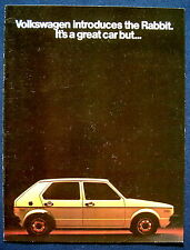 Prospekt brochure 1975 Volkswagen Rabbit  (USA)