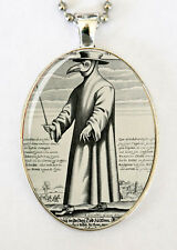 Plague doctor necklace odd gothic punk victorian LARGE 40X30mm pendant