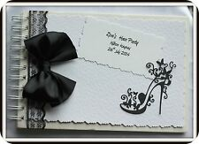 Personalised Hen Night/Party Memory/Scrap book/ Gift black clasic black white gi
