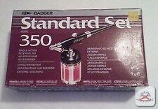 Badger 350-3 Single Action External Mix Airbrush Standard Set w/second air brush